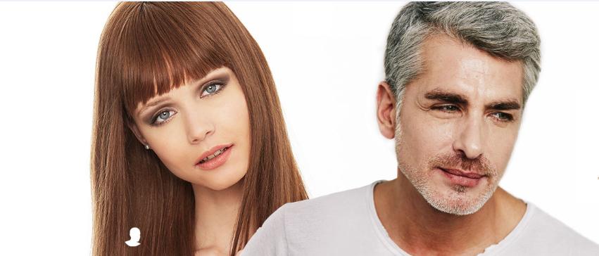 Friseur Mann und Frau